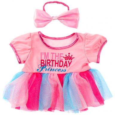 "Birthday Princess & Bow 16"" Outfit"