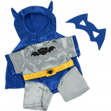 "Bat Bear Silver & Blue 8"" Outfit"