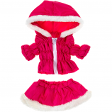 "Hot Pink Parka & Skirt 16"" Outfit"
