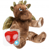 "Green Dragon 16"" Baby Heartbeat Bear"