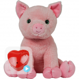 "Percy Pig 16"" Baby Heartbeat Bear"