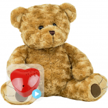 "Twist Bear 16"" Baby Heartbeat Bear"