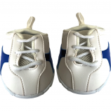 "Royal Blue Stripe 16"" Tennis Shoes"