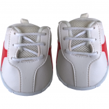 """White with Red Stripe 16"""" Tennis Shoes"""