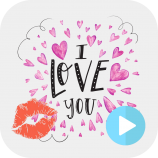 I Love You with Kiss Sound