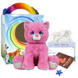 "Winnie the Pink Kitty 16"" Travel Ted"