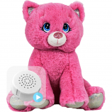 "Blush the Pink Kitty 8"" Baby Heartbeat Bear"