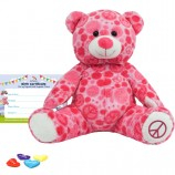 "Peace and Love Bear 16"" Bear Skin"