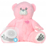 "Pink Bear 16"" Baby Heartbeat Bear"