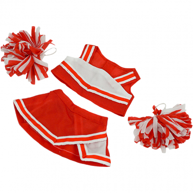 """Red Cheerleader 8"""" Outfit"""