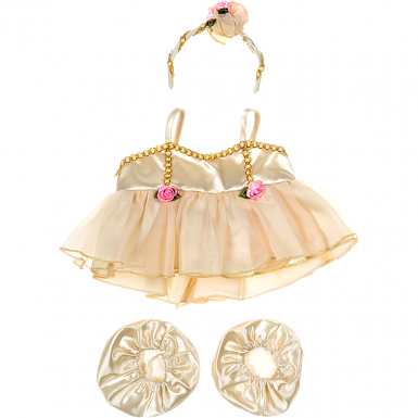 """Golden Ballerina 16"""" Outfit"""
