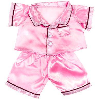 Pink Satin PJ's 16