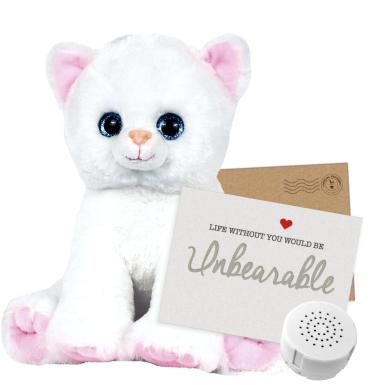 """Katie Kitty 8"""" Message Bear"""