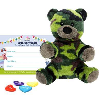 """Camo Bear 8"""" Bear Skin"""