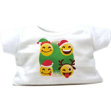 """Festive Emoji 16"""" Christmas T-Shirt"""
