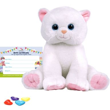 "Marshmallow Cat 16"" Animal Skin"