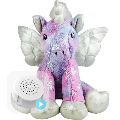 "Stardust Unicorn 16"" Baby Heartbeat Bear"